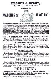 1842 Brown & Kirby Ad