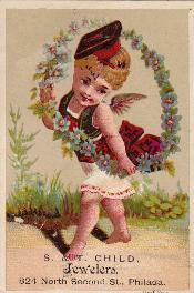 c. 1885 S. & T. Child Trade Card