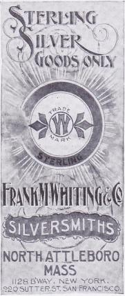 1899 Frank M. Whiting & Co. Ad