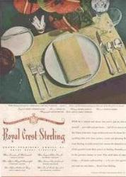 1946 Royal Crest Ad - Castle Rose