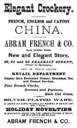 1876 Abram French & Co. Advertisement