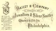 c. 1875 Bailey & Co. Advertising Card