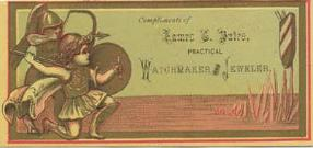 c. 1880 James C. Bates Trade Card