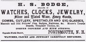 H.S. Bodge 1868 Advertisement
