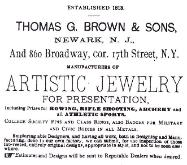 1884 Thomas G. Brown & Sons Advertisement