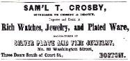 1856 S.T. Crosby Advertisement