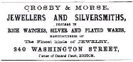 1866 Crosby & Morse Advertisement