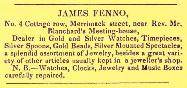 1840 James Fenno Advertisement
