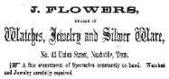 1860 Joshua Flowers Advertisement