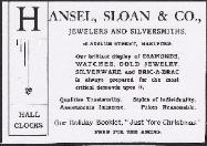 1906 Hansel, Sloan & Co. Advertisement