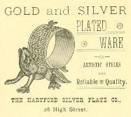 1889 Hartford Silver Plate Co. Advertisement