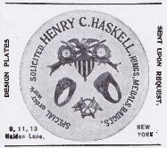1899 Henry C. Haskell Advertisement