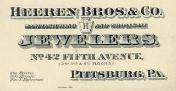 C. 1895 Heeren Bros. & Co. Business Card