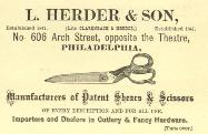 c. 1900 L. Herder & Son Business Card