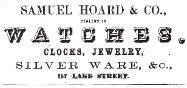 1855 S. Hoard & Co. Advertisement