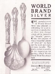 American Silver Co. 1907 Ad - Moselle Pattern