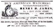 1859 Henry B. James Advertisement