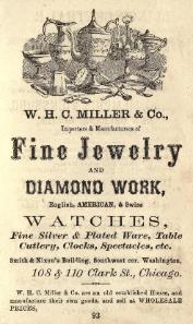 1868 W.H.C. Miller & Co. Advertisement