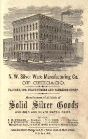 1868 Northwestern Silver Ware Mfg. Co. Advertisement