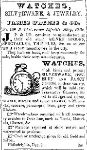 James Peters & Co. 1845 Ad