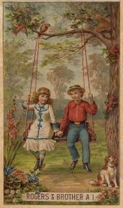 c. 1880 Rogers & Brother Trade Card