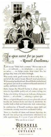 1931 Russell Cutlery Co. Ad