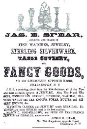 1854 James E. Spear Advertisement