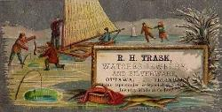 c. 1880 R.H. Trask Trade Card