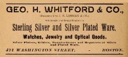 1895 Geo. H. Whitford & Co. Advertisement